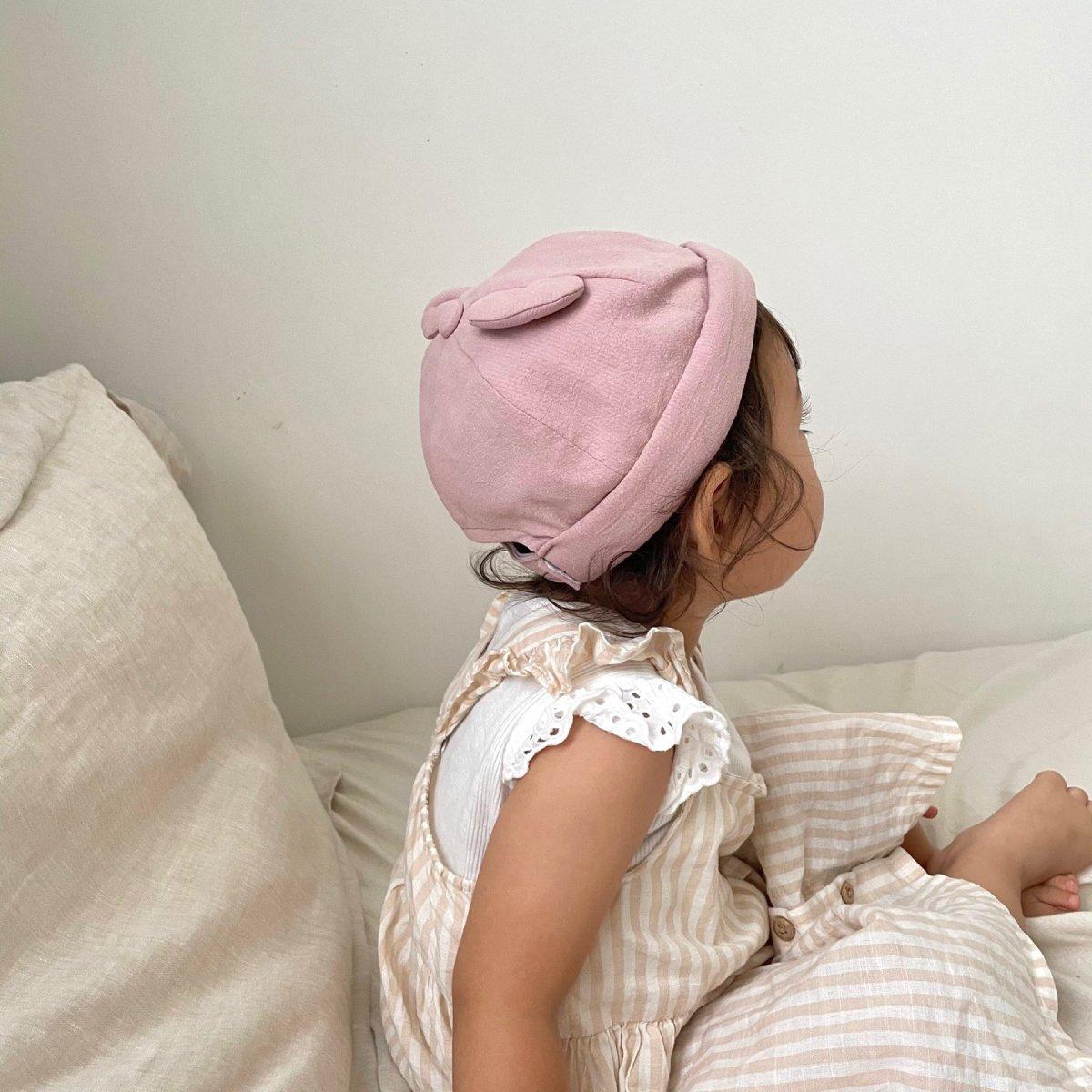【BABY】Baby Linen Bear Cap 詳細画像21