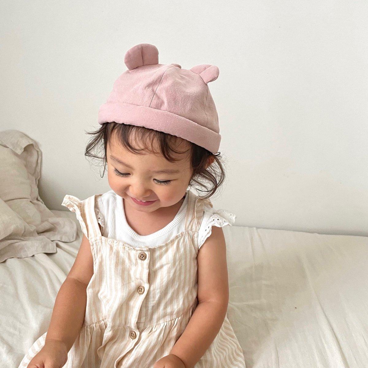 【BABY】Baby Linen Bear Cap 詳細画像22
