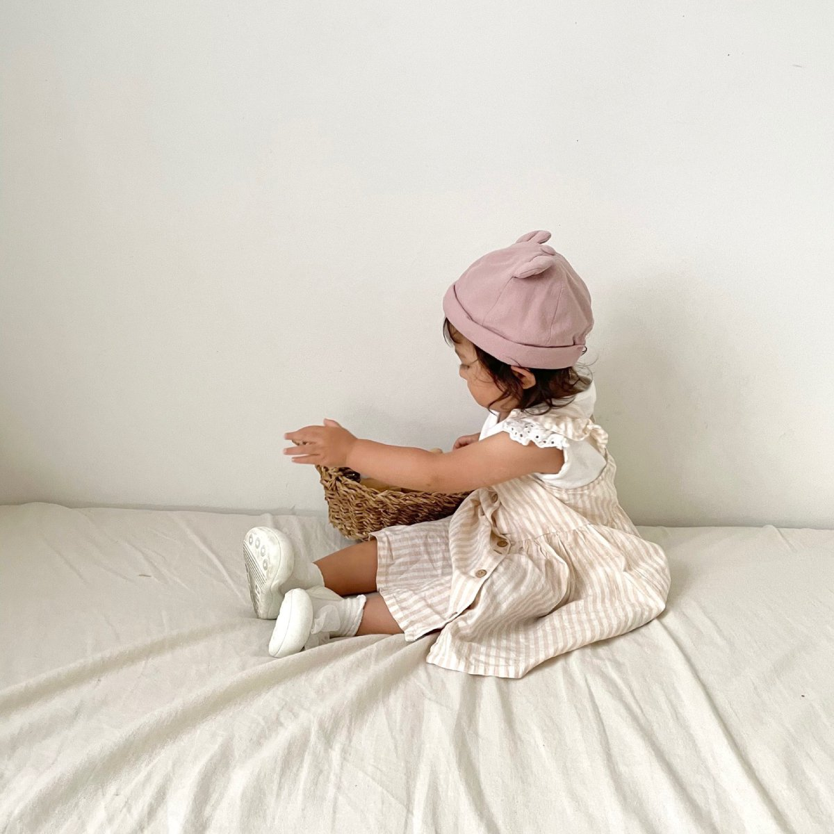 【BABY】Baby Linen Bear Cap 詳細画像24