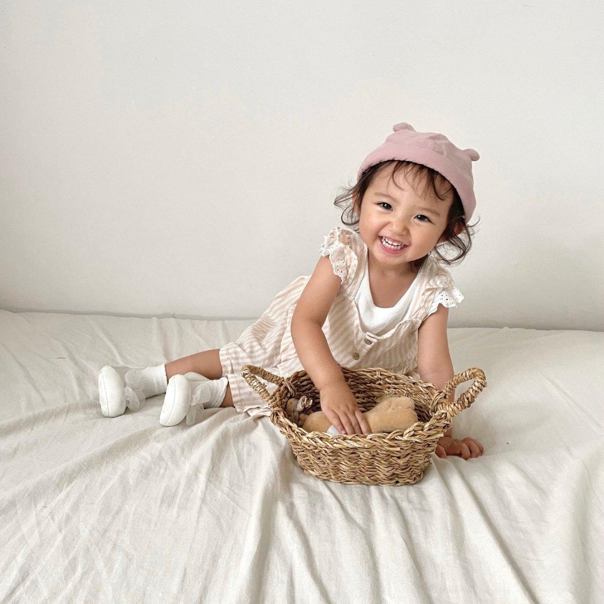 【BABY】Baby Linen Bear Cap 詳細画像25