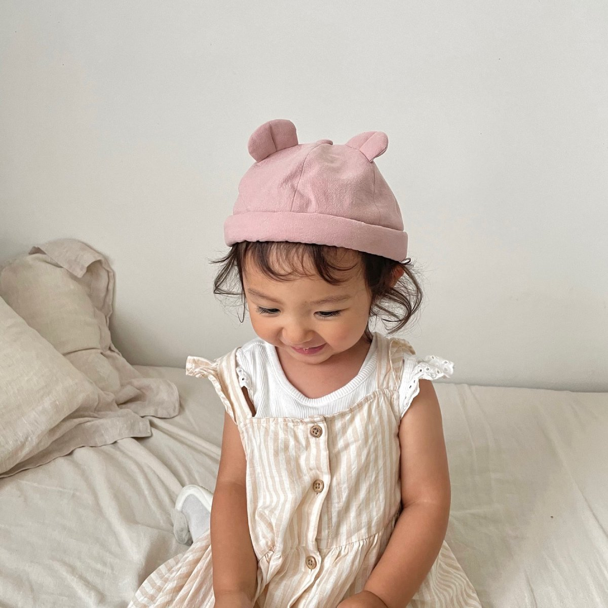 【BABY】Baby Linen Bear Cap 詳細画像26