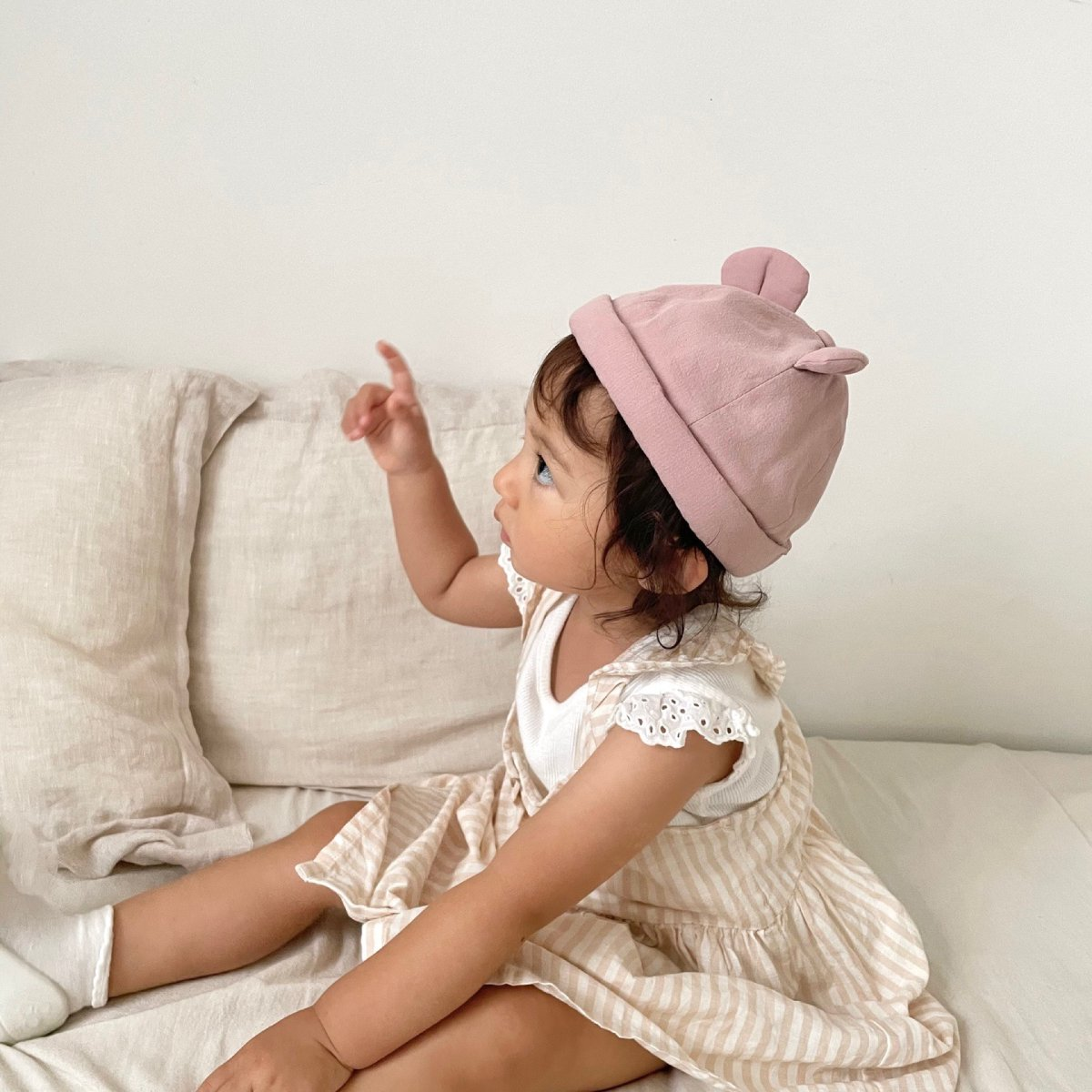 【BABY】Baby Linen Bear Cap 詳細画像27