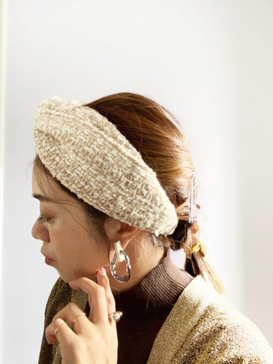 Mix beige Turban 詳細画像6