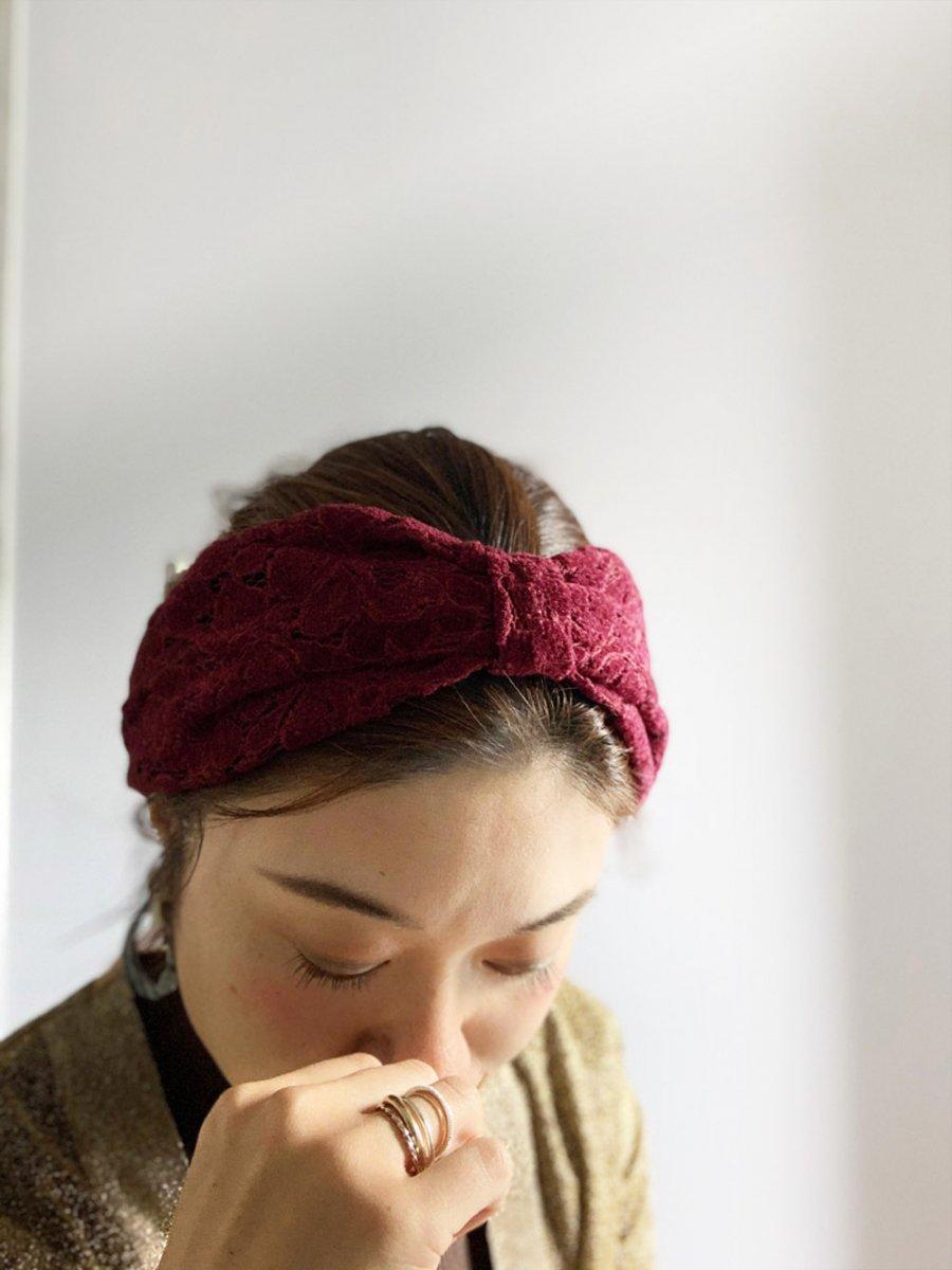 Velour Lace Turban 詳細画像18