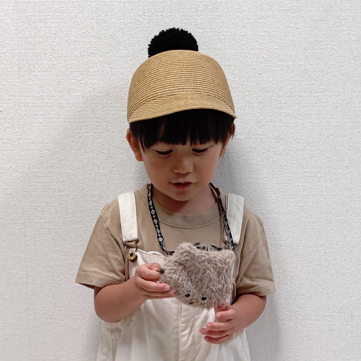【KIDS】Big Pom Braid Cap 詳細画像15