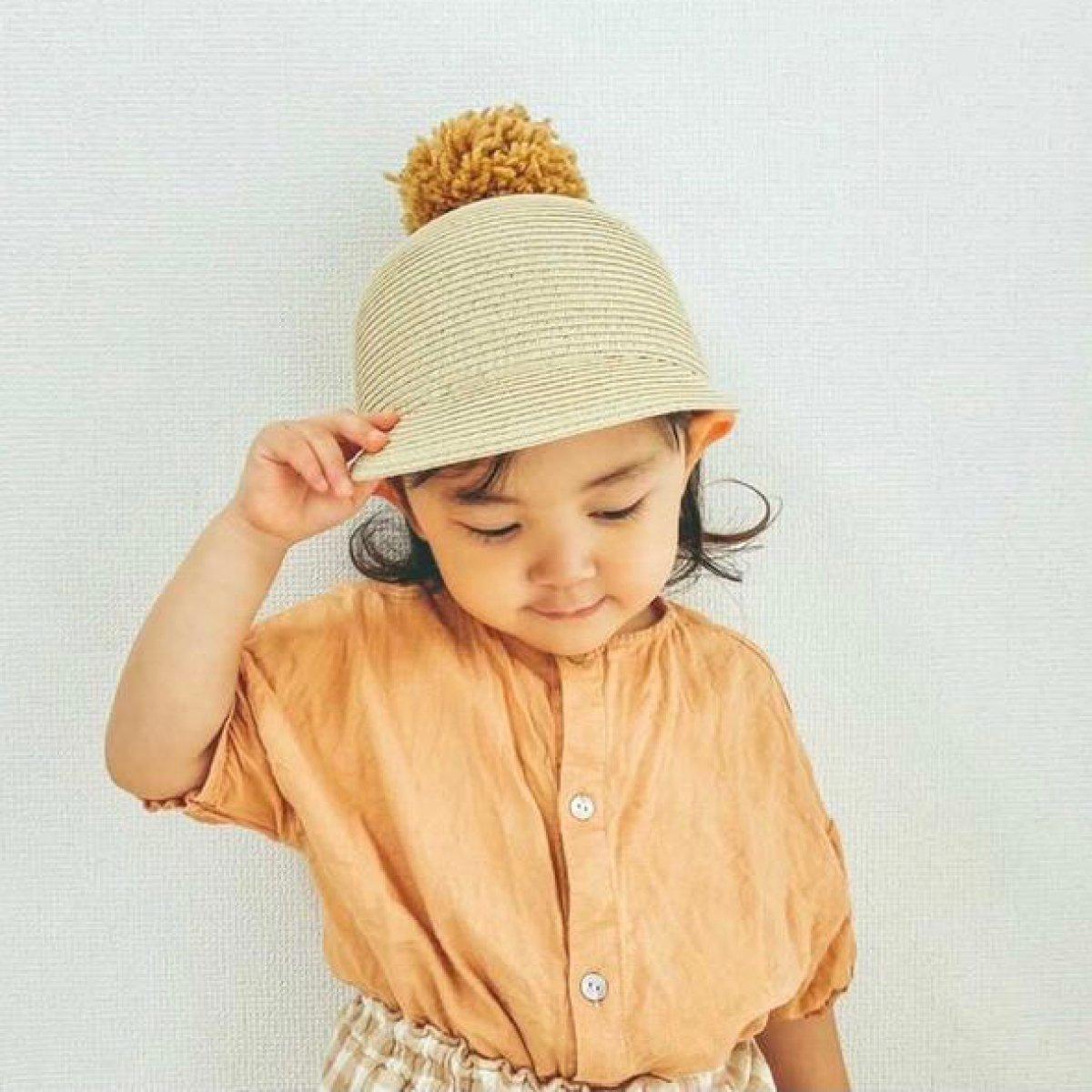 【KIDS】Big Pom Braid Cap 詳細画像18