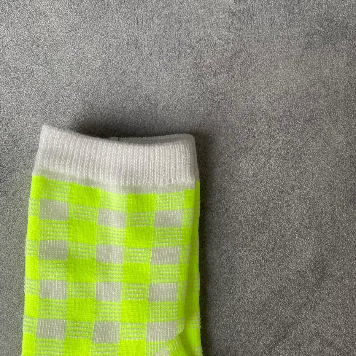 【BABY】Neon Check Socks 詳細画像12