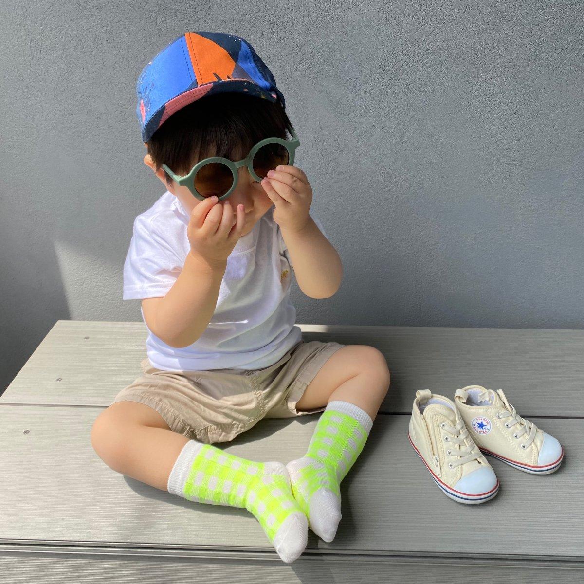 【BABY】Neon Check Socks 詳細画像18