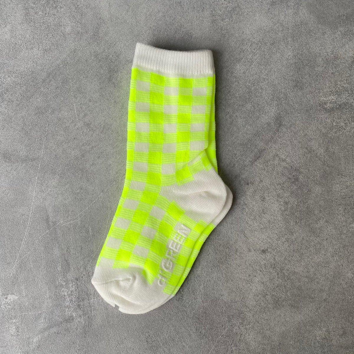 【BABY】Neon Check Socks 詳細画像3