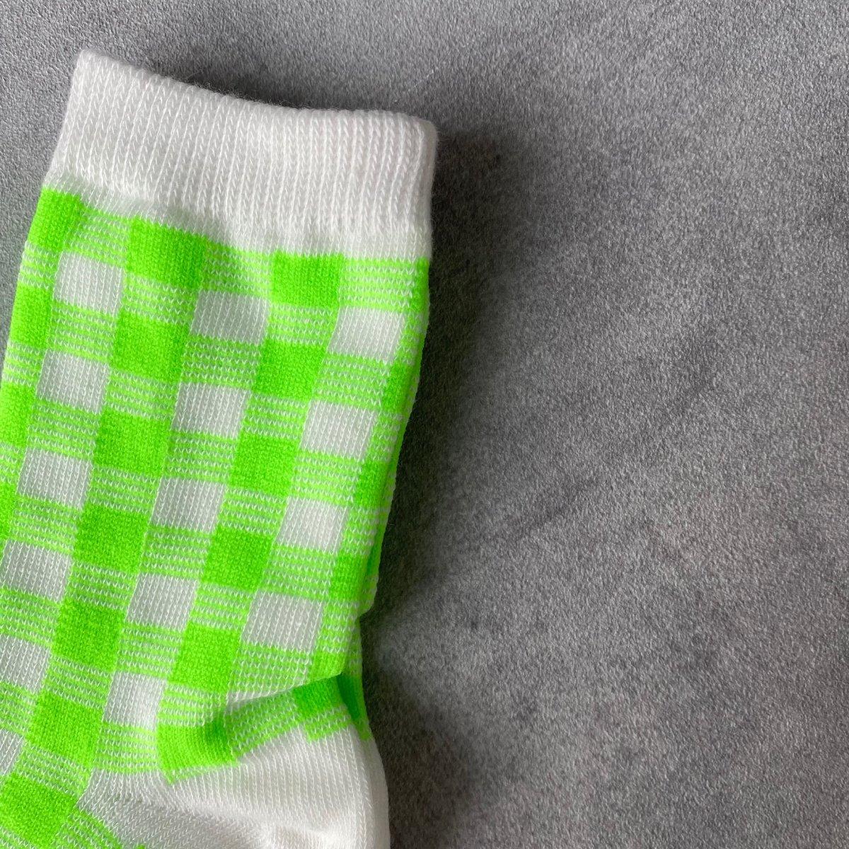 【BABY】Neon Check Socks 詳細画像8