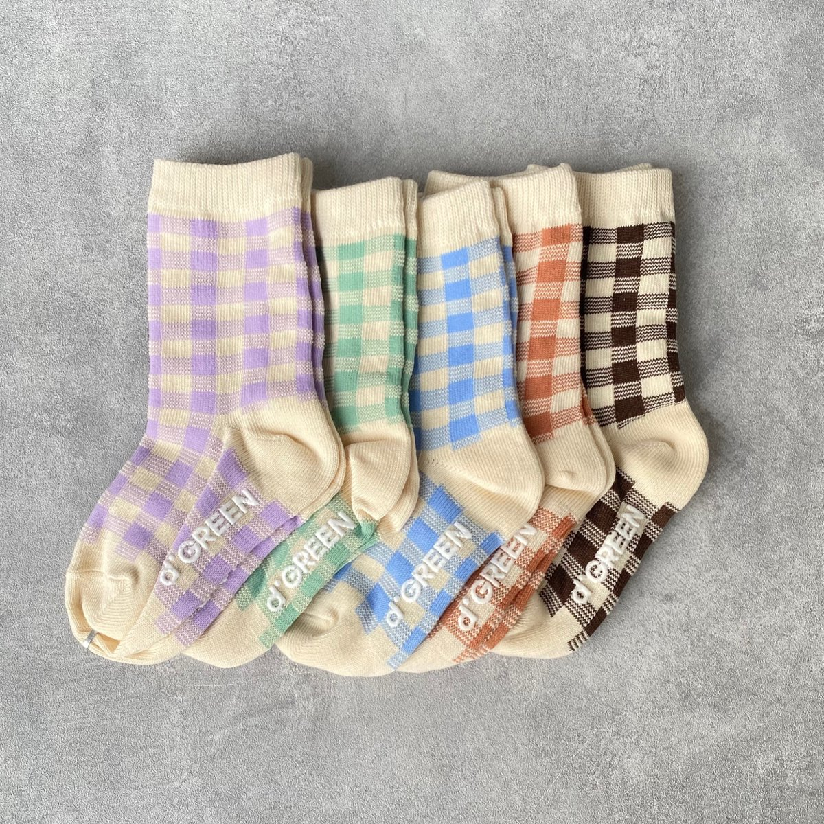 【BABY】Natural Check Socks 詳細画像6