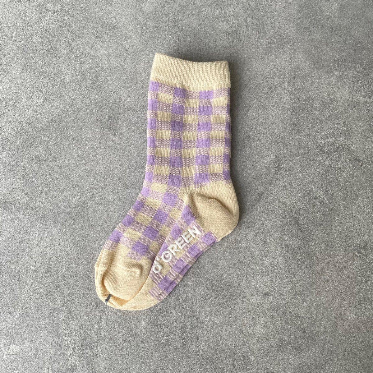 【KIDS】Natural Check Socks 詳細画像1