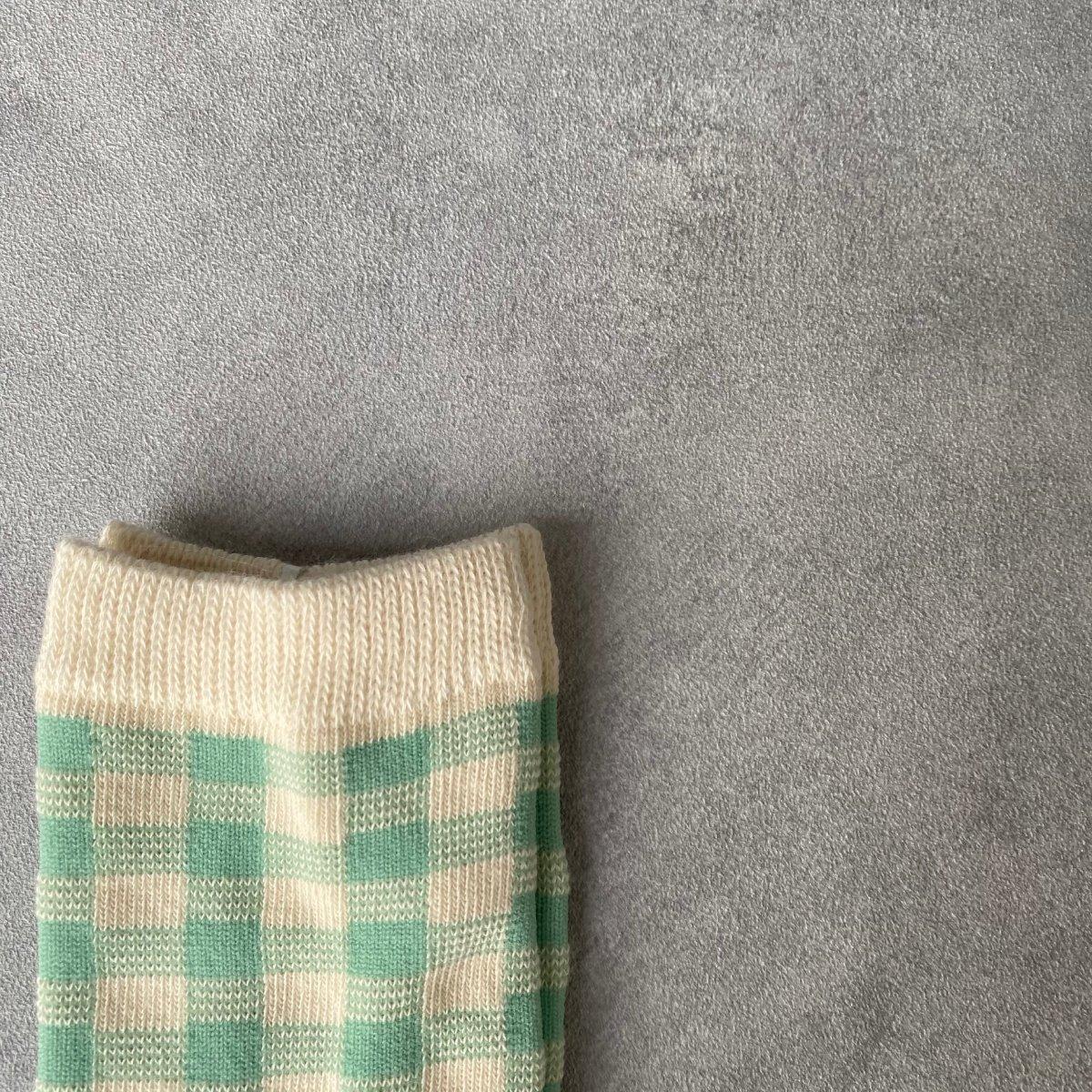 【KIDS】Natural Check Socks 詳細画像10