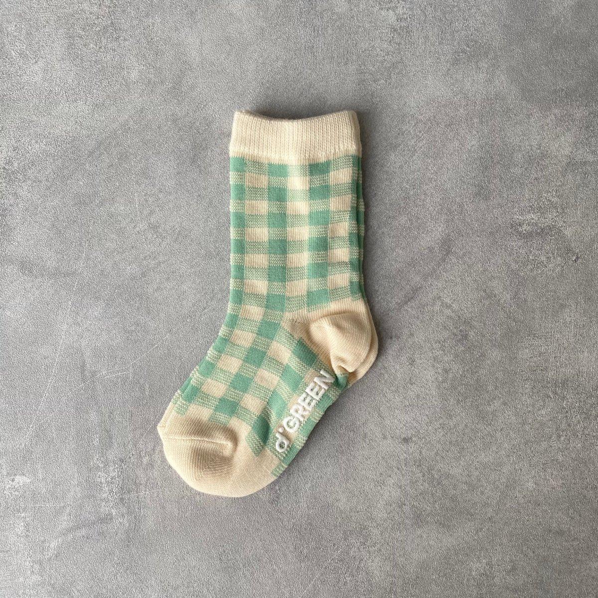 【KIDS】Natural Check Socks 詳細画像2