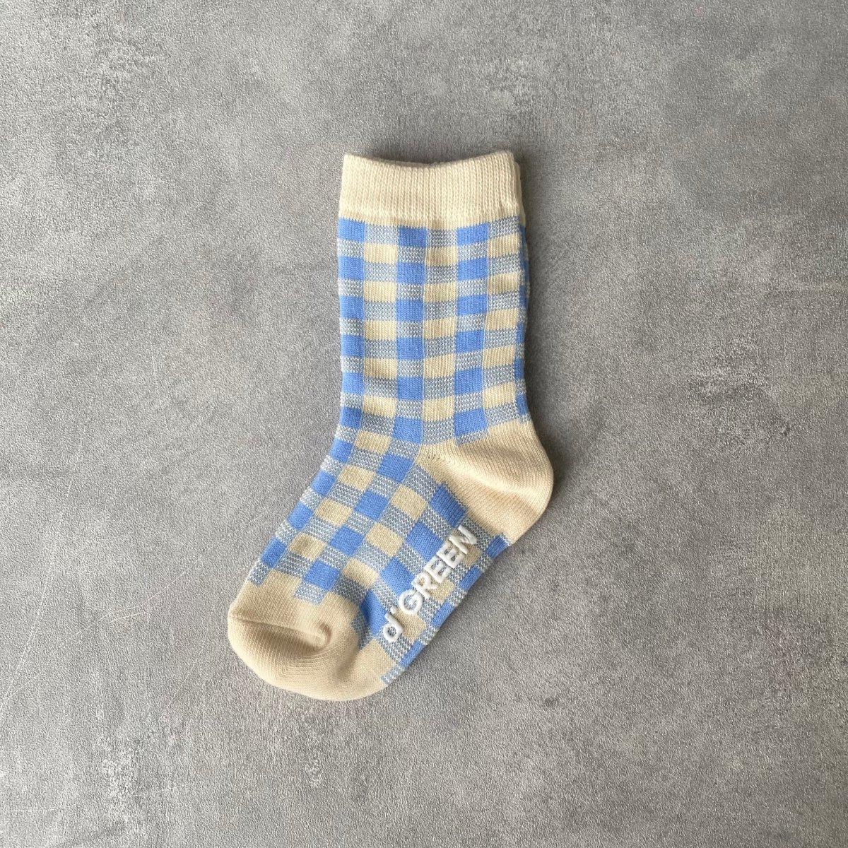 【KIDS】Natural Check Socks 詳細画像3