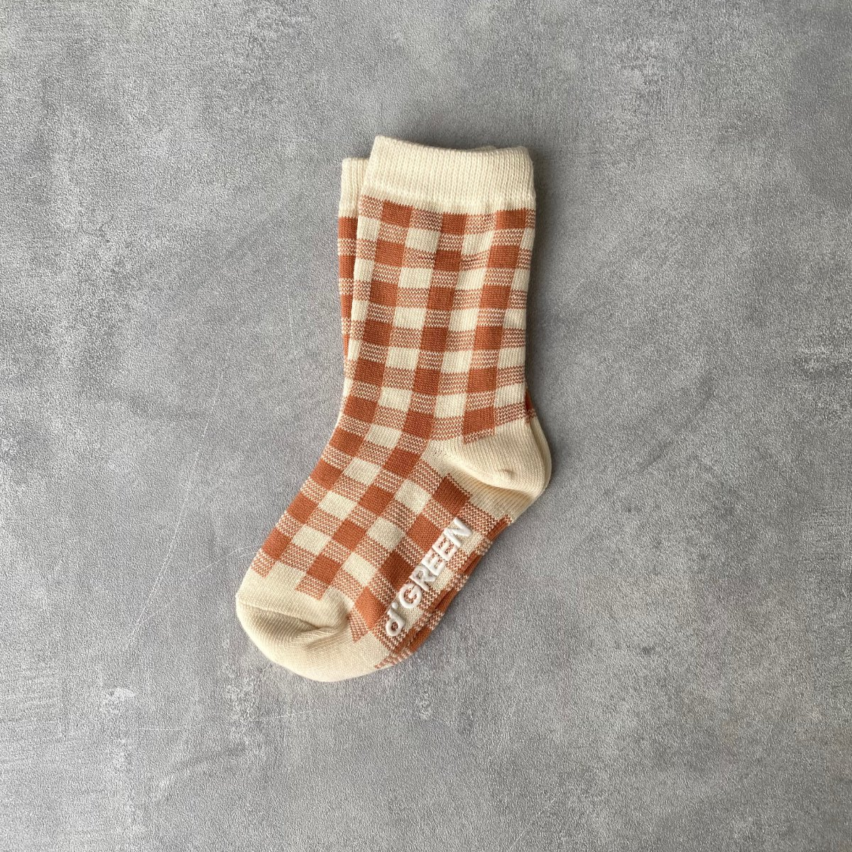 【KIDS】Natural Check Socks 詳細画像4