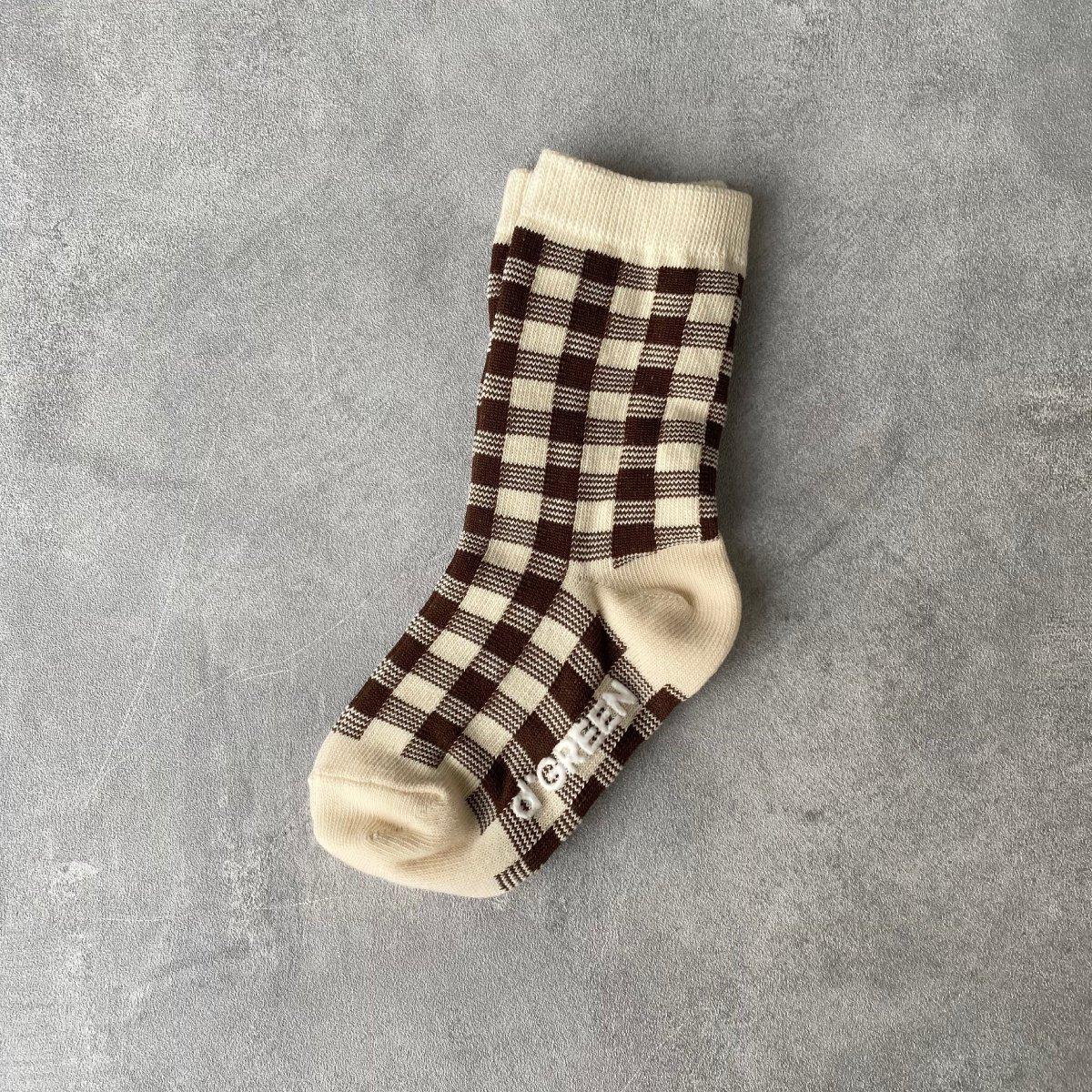【KIDS】Natural Check Socks 詳細画像5