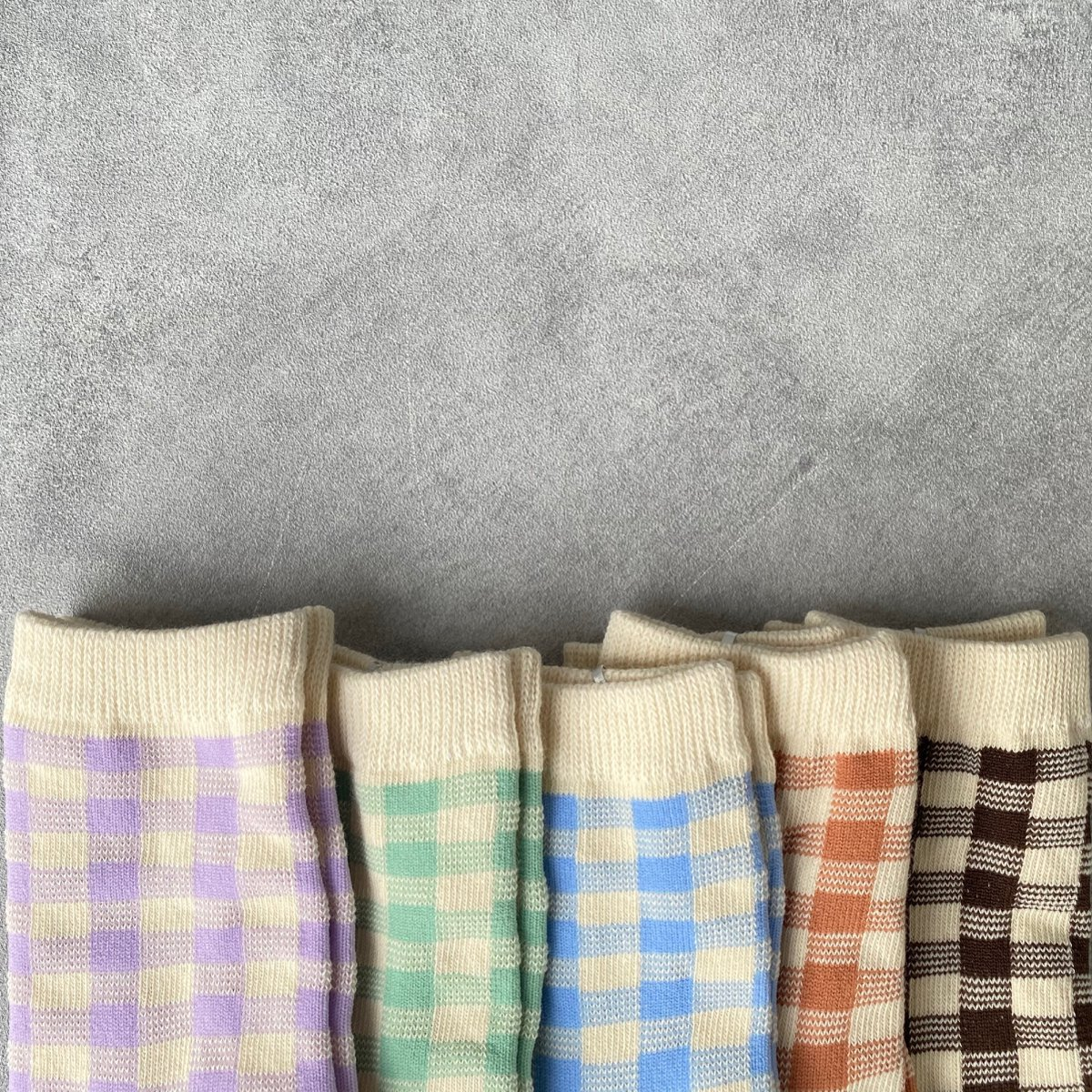 【KIDS】Natural Check Socks 詳細画像6