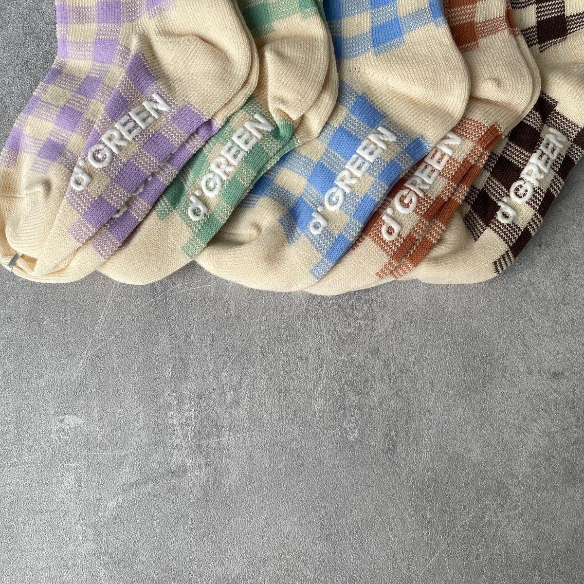 【KIDS】Natural Check Socks 詳細画像7