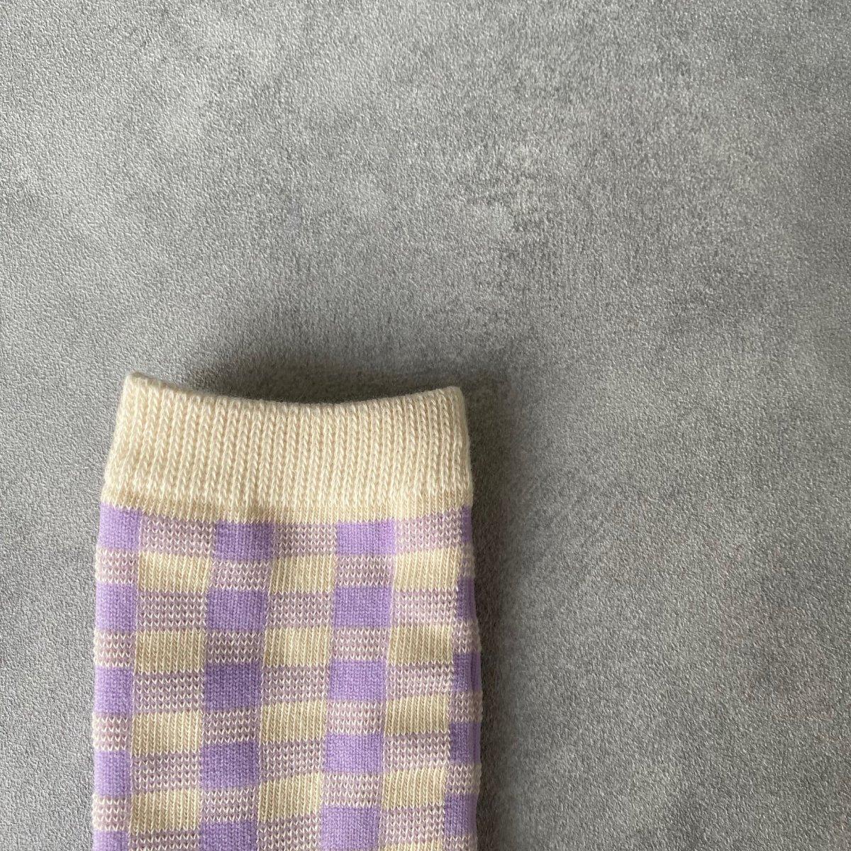 【KIDS】Natural Check Socks 詳細画像8