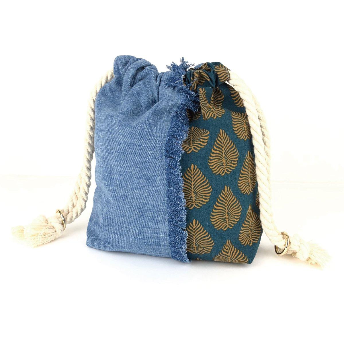 Denim Fringe Bag 詳細画像1