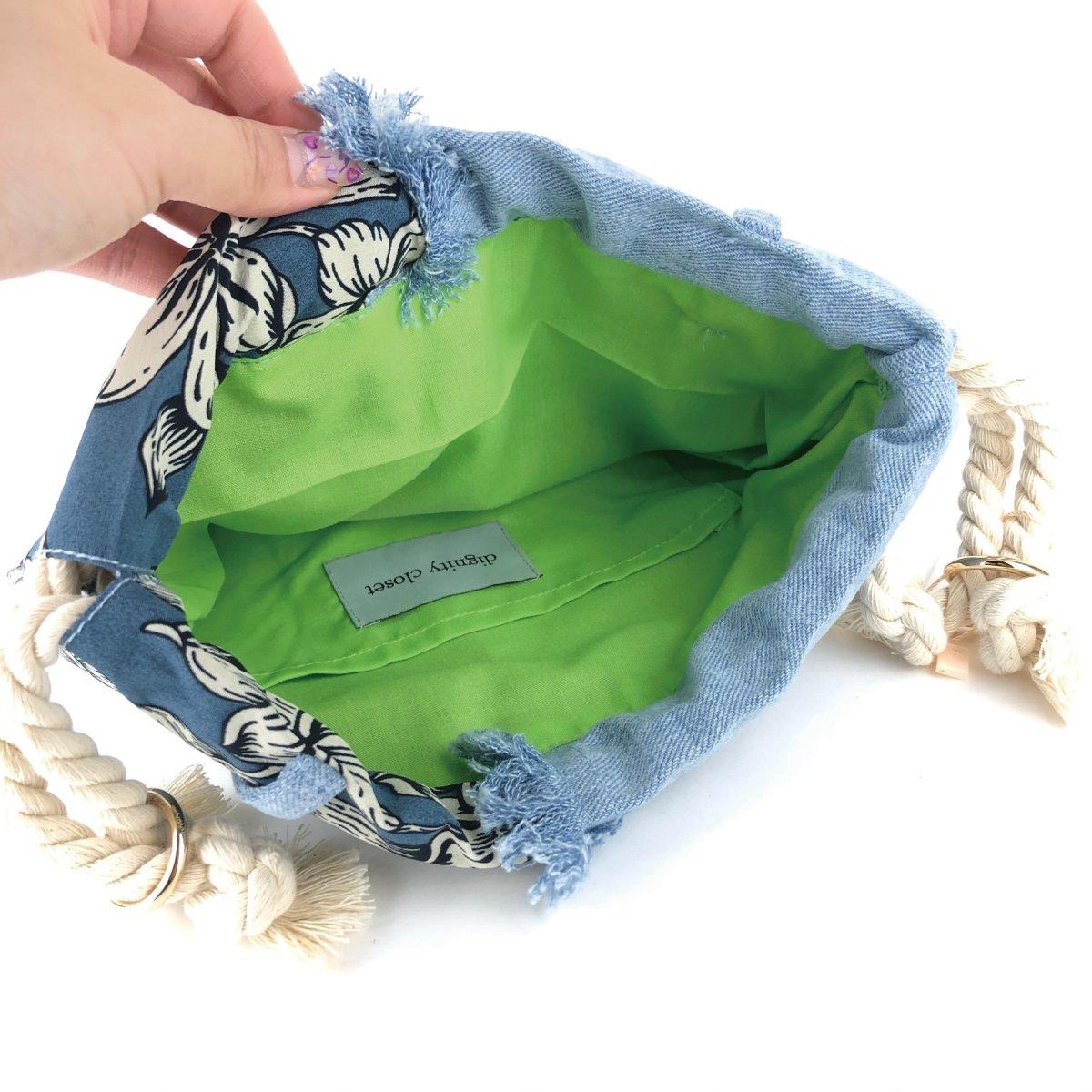 Denim Fringe Bag 詳細画像11