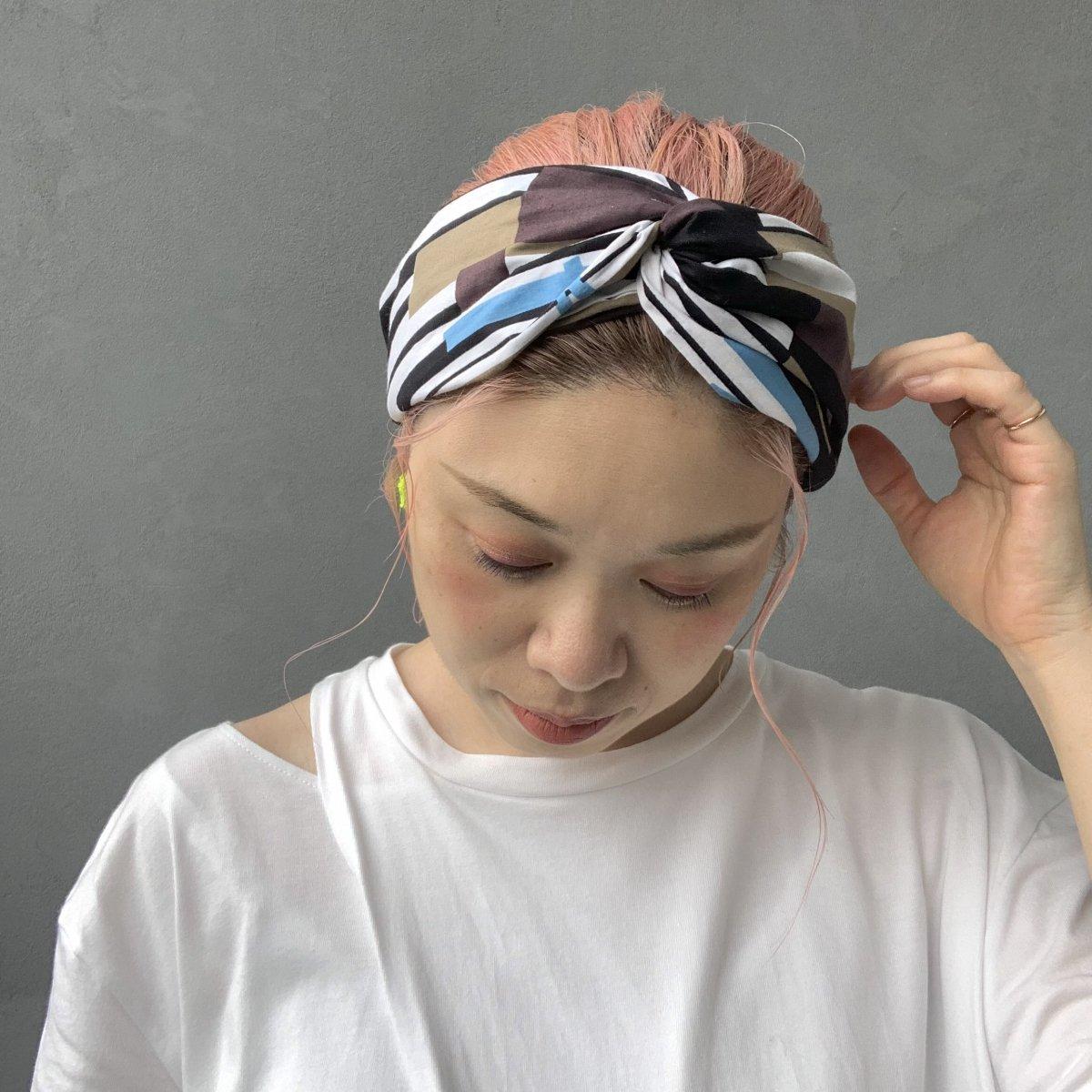 Stripe Design Turban 詳細画像7