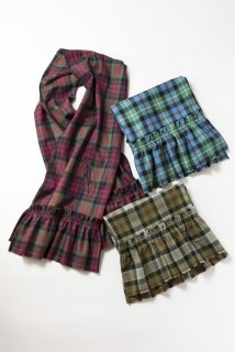 Tartan check many wayストール