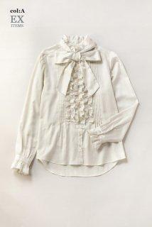 フリルトリミングドレスシャツ
