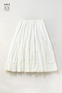 Vintageツイル ティアードスカート