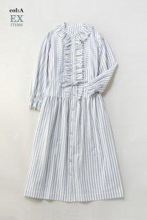 Vintage stripeエドワーディアンドレス