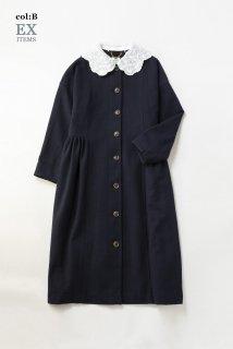 Grape embroideryカラーコートドレス