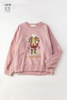 White rabbit embroideryトレーナー