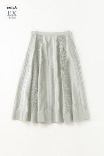 Stripe laceゴアードスカート