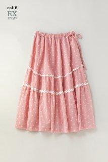 Sprinkled flowersレーストリミングスカート