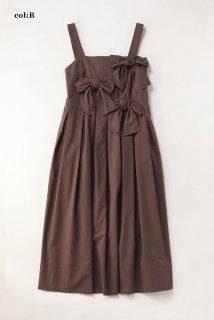 フロントリボンストラップドレス