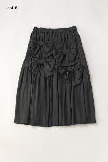 ドライサテンribbon loversスカート
