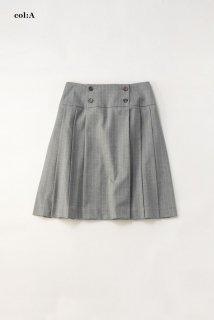Bespoke stripeプリーツスカート