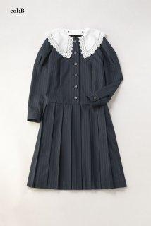 Bespoke stripeケープレースカラードレス