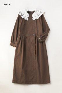 ヴィンテージレースカラーコートドレス