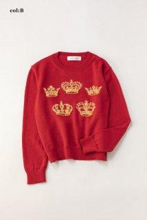 Bespoke crown 編み込みセーター