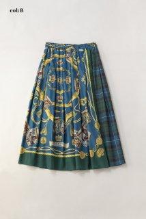 Royal drumsとタータンチェック2faceスカート