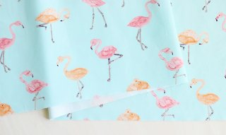 nunocoto fabric:flamingo(ライトブルー)