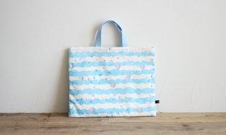 レッスンバッグ(おけいこバッグ)手作りキット:sora/ブルー