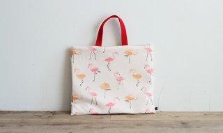 レッスンバッグ(おけいこバッグ)手作りキット:flamingo/ピンク