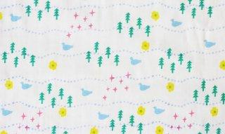 nunocoto fabric:osanpo(ホワイト)