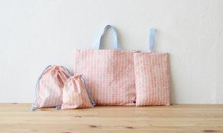 1mで作れる入園グッズ4点セット:shizuku/ピンク