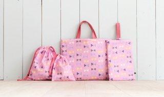 1mで作れる入園グッズ4点セット:リボン/ピンク