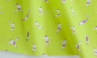 fabric:サッカー(ライムグリーン)