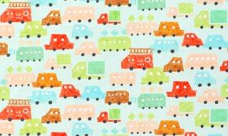 nunocoto fabric:minicar(グリーン)